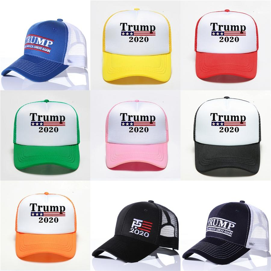 Bordados Trump 2020 tornar a América Great Again Donald Trump Baseball Caps Caps Chapéus de beisebol Adultos Sports Hat Ljjk1033 # 531