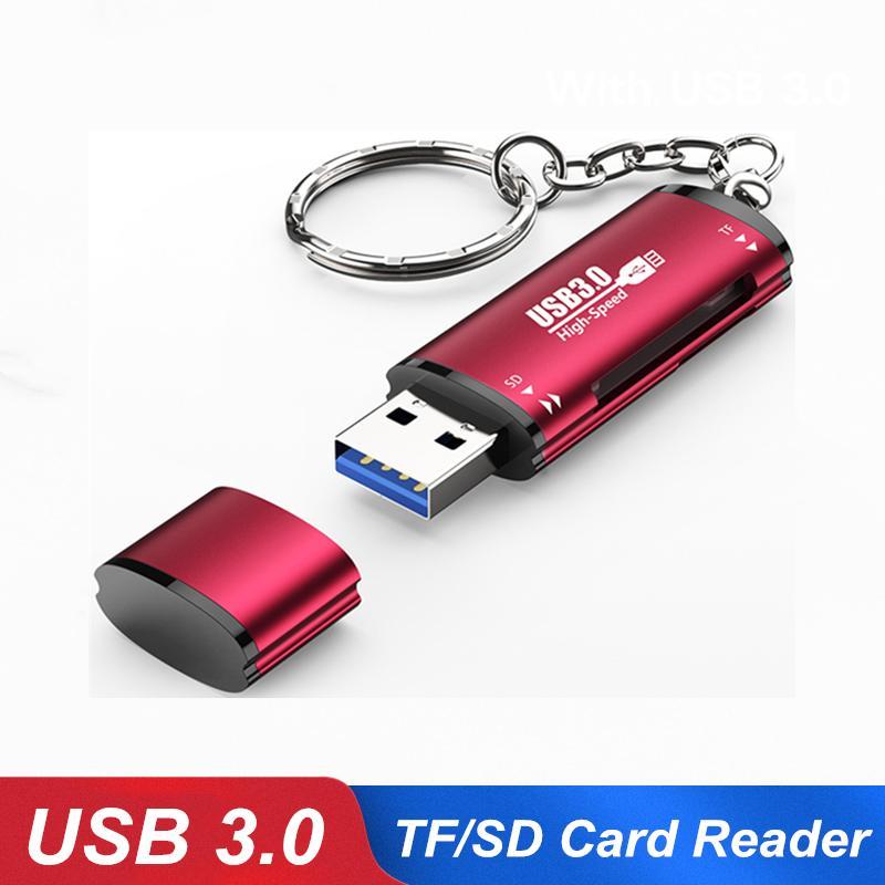 고속 2 in 1 USB 3.0 SD 마이크로 SD 카드 리더 어댑터 랩톱 컴퓨터 마이크로 TF 플래시 용