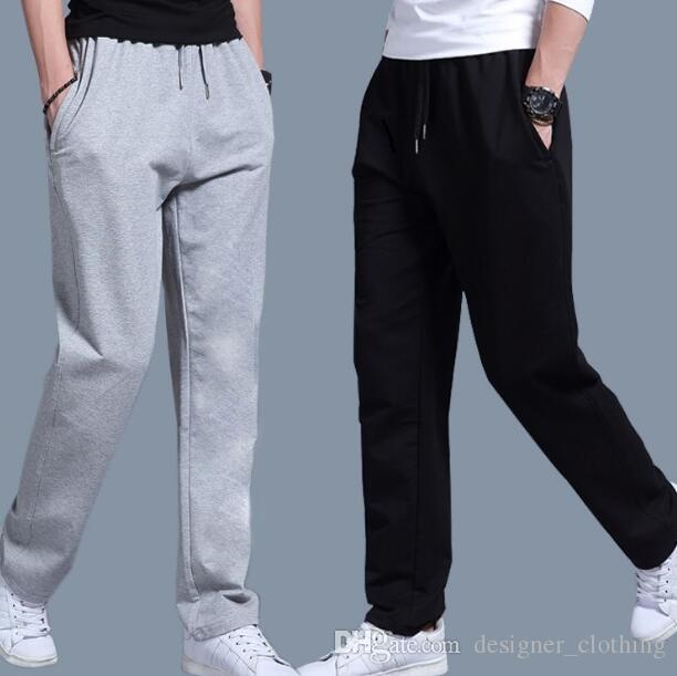 Gevşek koşu spor spor eğitim pantolon Spor pantoloncotton rahat pantolon artı David pantolon erkek ince kesit pantolon düz