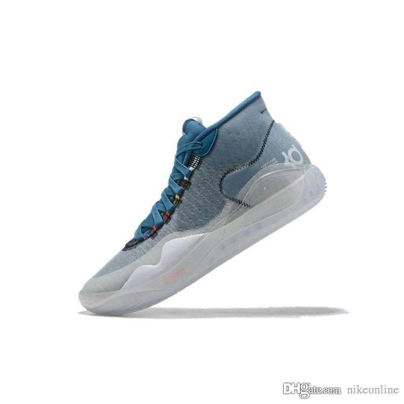 دينار رجل 12 أحذية كرة السلة الأزرق كول رمادي الوردي عيد الفصح عيد الميلاد الزهور أوريو ليبرون 16 كيفن دورانت العالية أعلى أحذية رياضية الأحذية مع حجم مربع