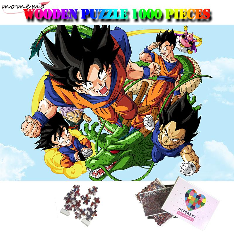 드래곤 볼 나무로 되는 퍼즐을 위한 성숙한 아이들에게 흥미로운 장난감 1000 조각 나무로 되는 퍼즐을 만화 애니메이션 퍼즐 게임 장난감 T200421