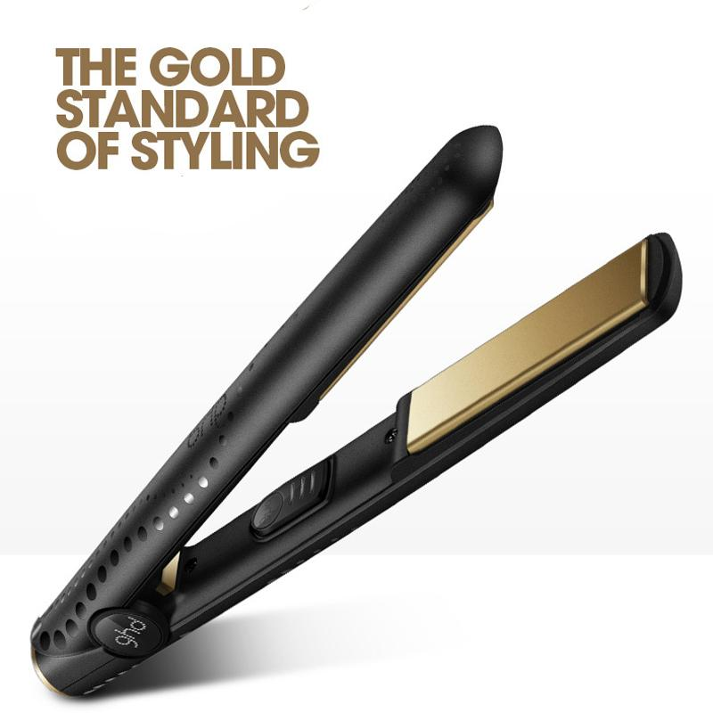 Gold Max Hair Straightener Classic Professional Straight Roll Dual Use Ceramics Fast Hair Straighteners Iron Hair Styling Tool 07