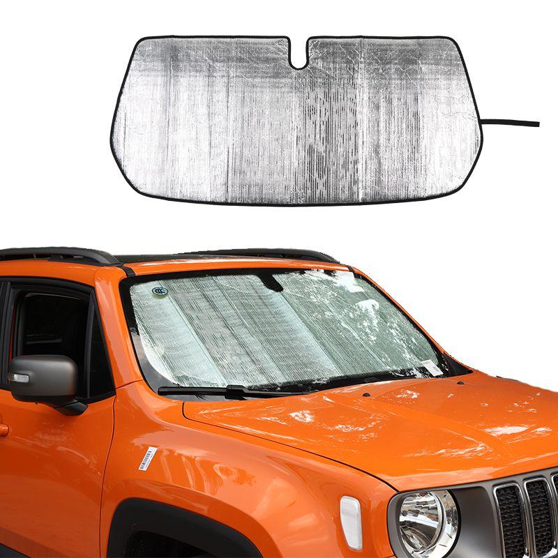 Pare-brille de pare-pare-pare-pare-pare-pare-pare-soleil voiture pare-soleil tapis pour Jeep renegade 2016 up accessoires d'intérieur de voiture