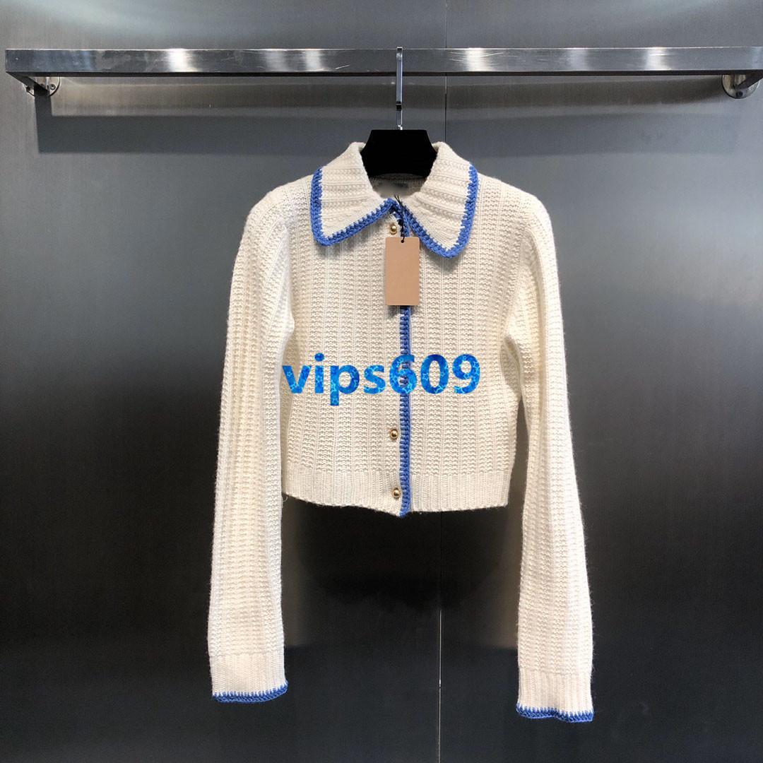 ragazze delle donne Cardigan collo bavero maglione maniche lunghe di colore di modo bloccando la stampa camicia Knit Moda donna Cardigan