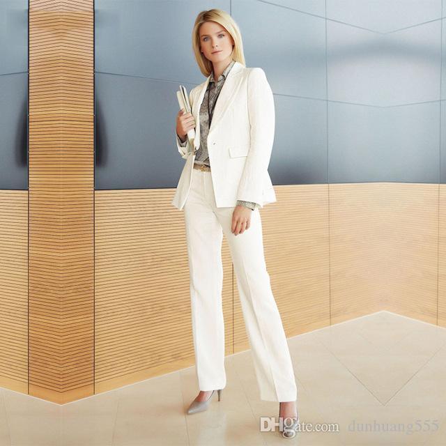 Traje de pantalón de mujer Slim Fit Uniforme Diseños Estilo formal Oficina Dama Trajes de trabajo de negocios Trajes de pantalón de mujer Trajes de 2 piezas
