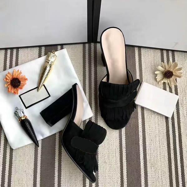 Lady Summer Sandals Gross Sexy Sexy Sexy Sexy Shoesheel Shoesheel Mezza pantofole di grandi dimensioni 35-42