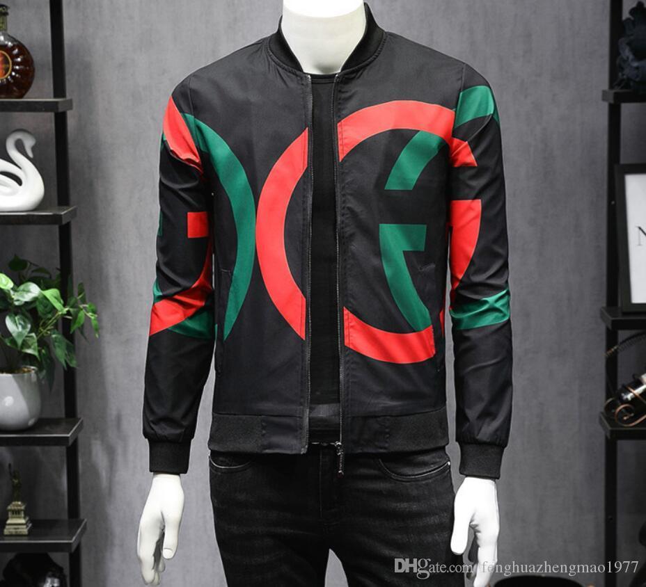 대형 M을 운동복 스포츠 용 재킷의 일종 최신 국제 고품질 남성의 하이 엔드 재킷 문자 패턴 패션 절묘한 코트 - 5XL