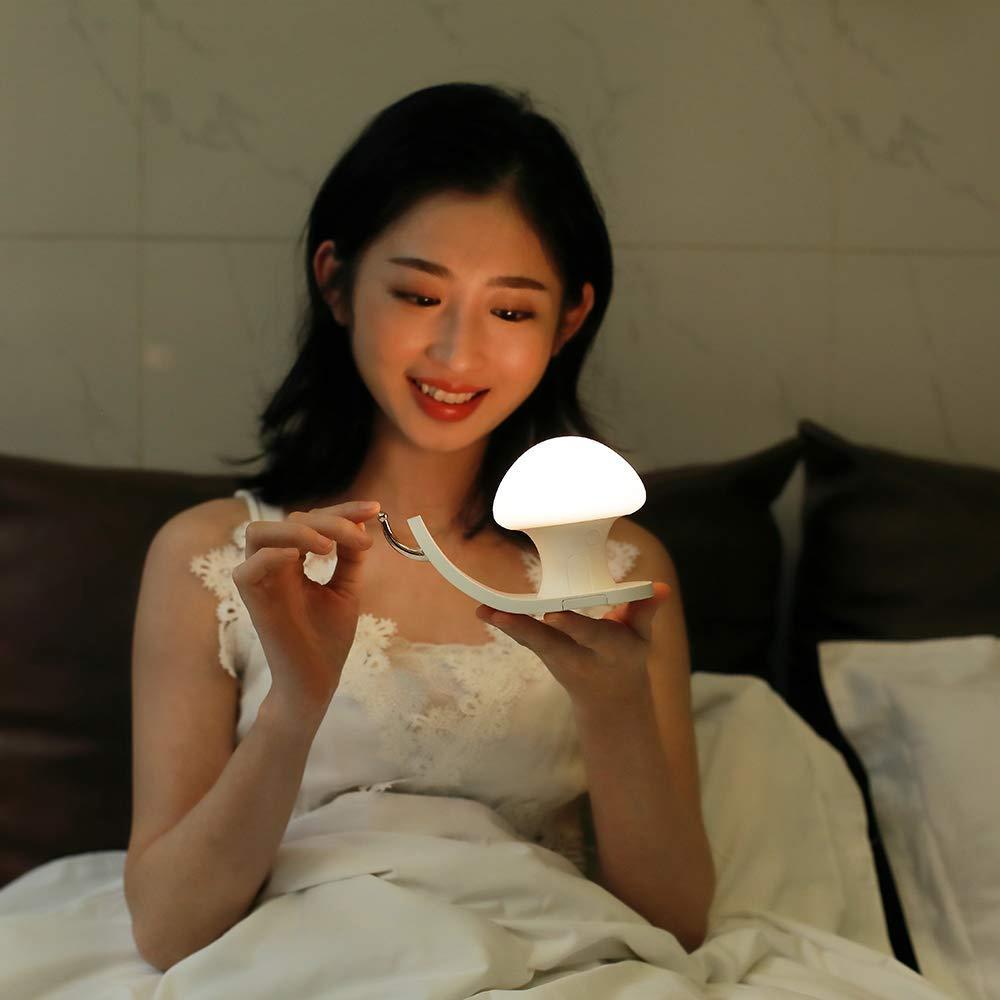 BRELONG의 USB 충전 밤 빛 다채로운 RGBW 달팽이 집 휴대 전화 브래킷 아이 터치 스위치 거실 침실 밝기 조절