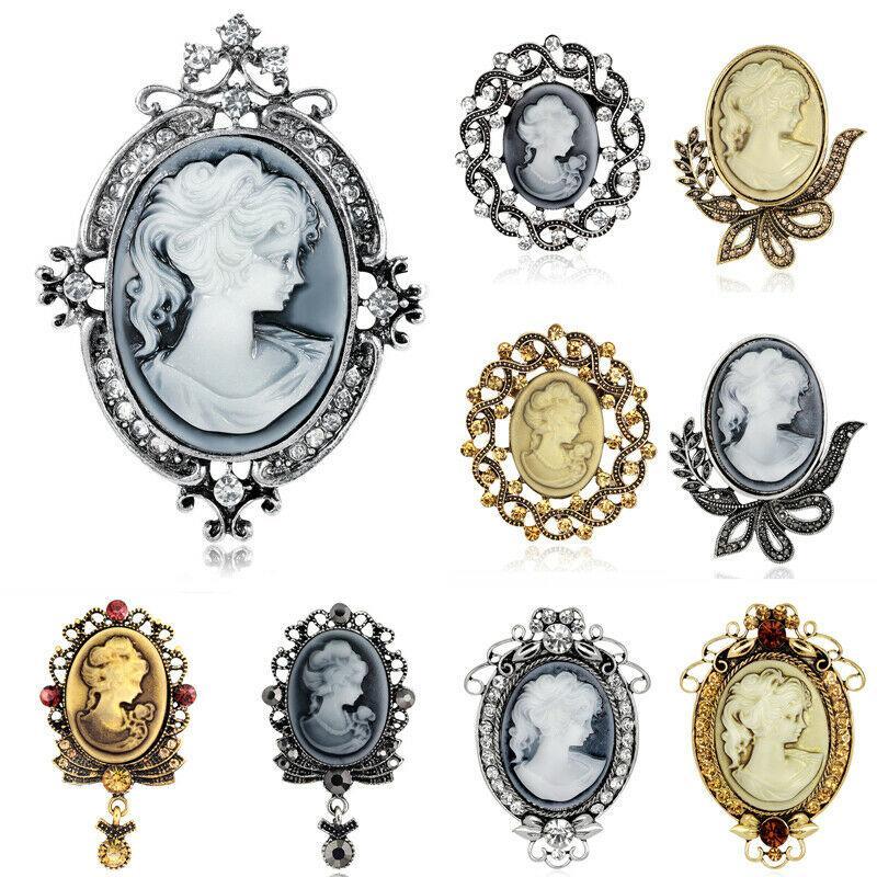 La nueva joyería de las mujeres de la vendimia elegante de las señoras broches del Rhinestone pernos mujeres novia de la boda