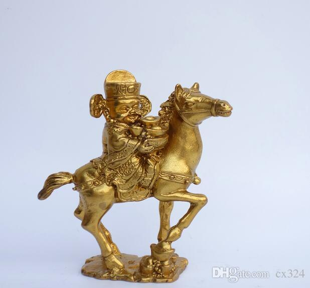 Pure copper god of wealth decoration, light and wealth, wealth cornucopia, wealth, god