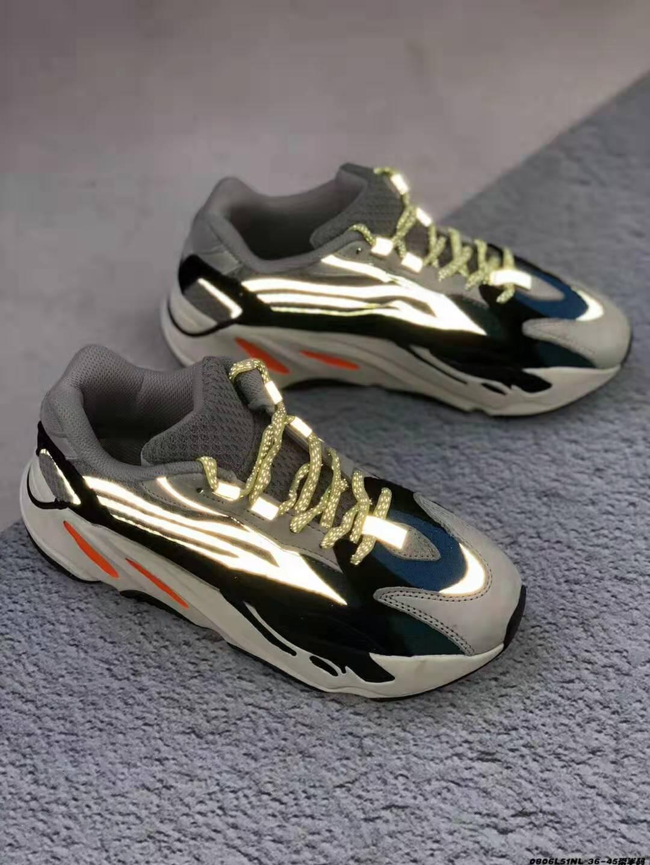 scarpe firmate Bagliore sintetico Camaleonte sintetico Tutto nero Statico Scarpe da corsa verdi bianche fluorescenti bianche ad ovest di alta qualità36-45