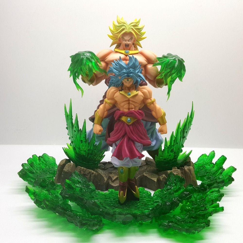 Japanese Anime Dragon Ball Super Saiyan Broli Blue Statue PVC Figure Model Toy