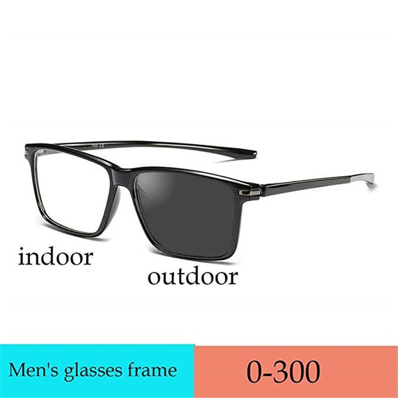 2020 neue Art und Weise klassische Herren-Lesebrille Sonne photochromen Linse quadratisch Full-Frame Lesebrille UV400 FML