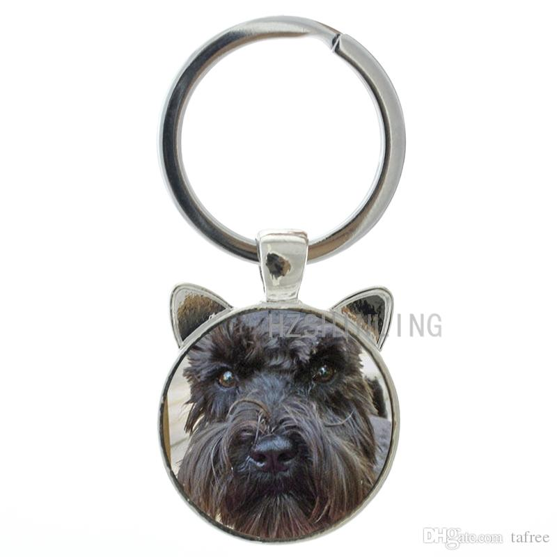 Ideal Present All I Want For Christmas Is A Miniature Schnauzer Dog Keyring