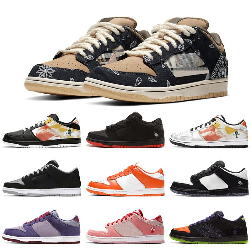 Nike SB Dunk Hococal 2020 Travis Scotts Casual Shoes Designer Dunk Low Piattaforma Uomini Donne scarpe da ginnastica bianche Skateboard Sport Chaussures Size 36-45
