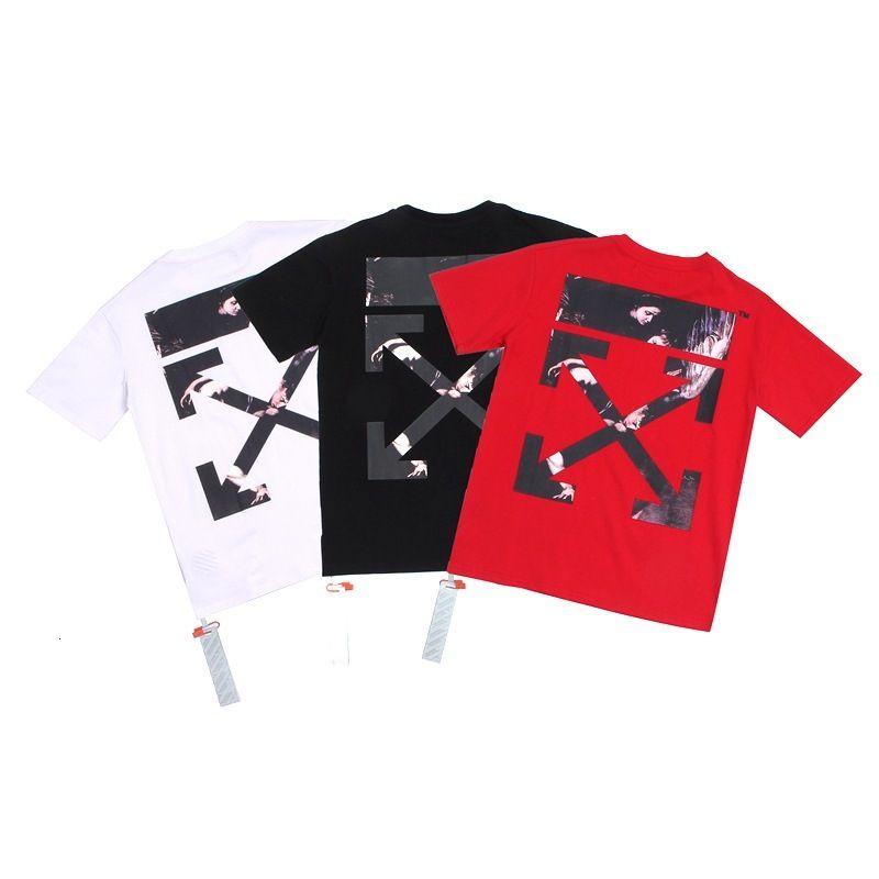 2020 hombres de alta calidad de manga corta de la moda de verano la camiseta ocasional cómodo cuello redondo OMERS98S camiseta de la ropa de moda