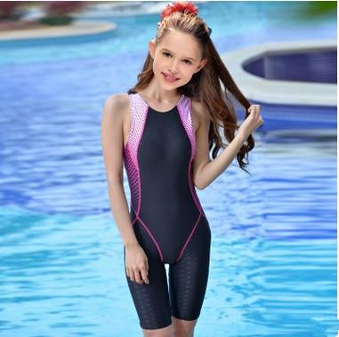 1459ceada64c0 Girl's Waterproof Bathing Suit Sports Racing Swimwear Children Training  Racing Cloth Professional Sport Competition Swimsuits
