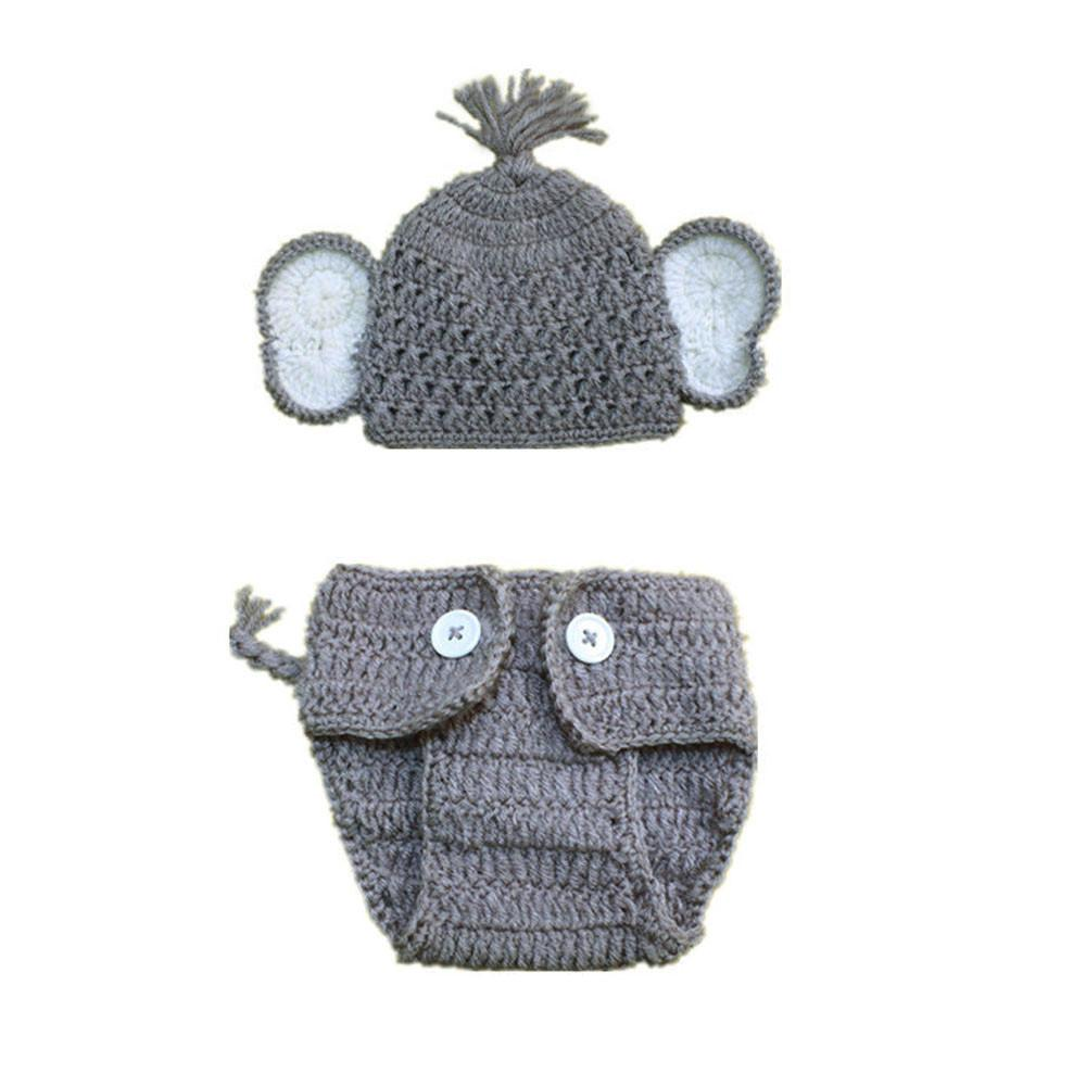 Newborn Baby Cute Crochet Knit Costume Prop Outfits Photography Baby Hat Photo Props New Born Baby Girls Pants Outfits #BL5