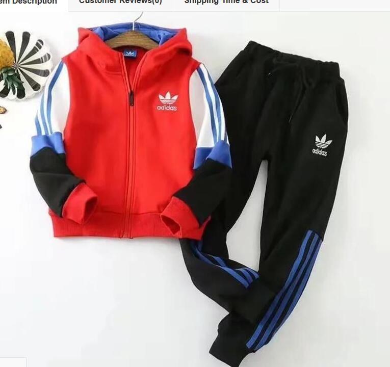 Traje deportivo de terciopelo de la marca con capucha gruesa + pantalones ropa niñas traje deportivo informal 130 cm --- 170 cm