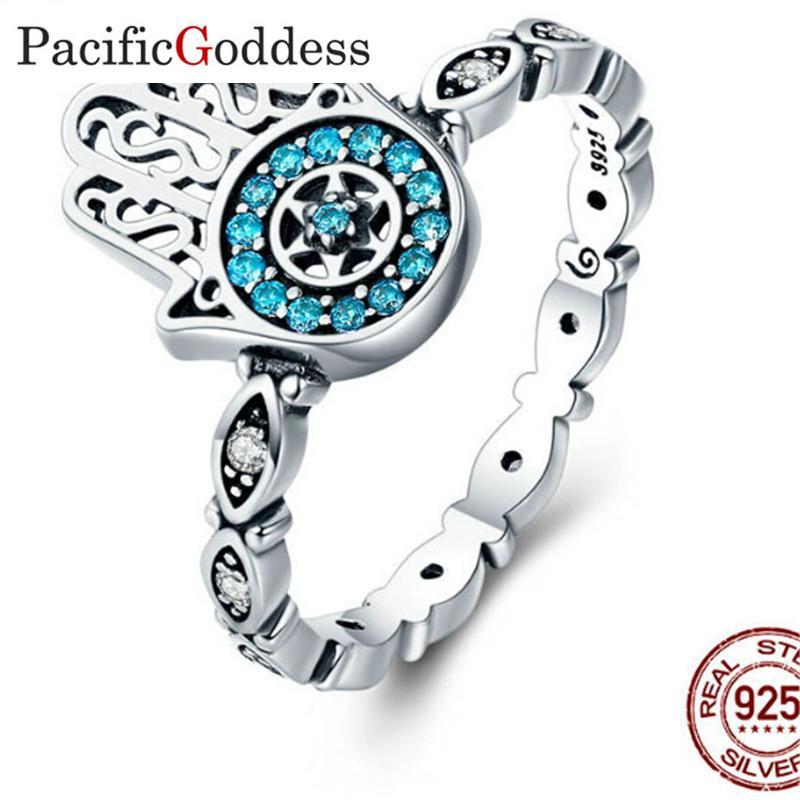 Atacado Authentic 925 Sterling Silver Anéis de Dedo para As Mulheres Jóias de Prata Esterlina olho afiado anéis bijou