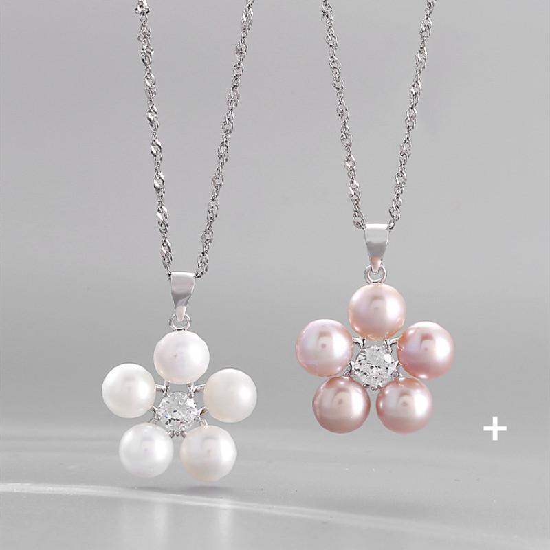 Explosão Moda colar de pérolas do sexo feminino jóias Acessórios 925 prata pingente de clavícula de cadeia