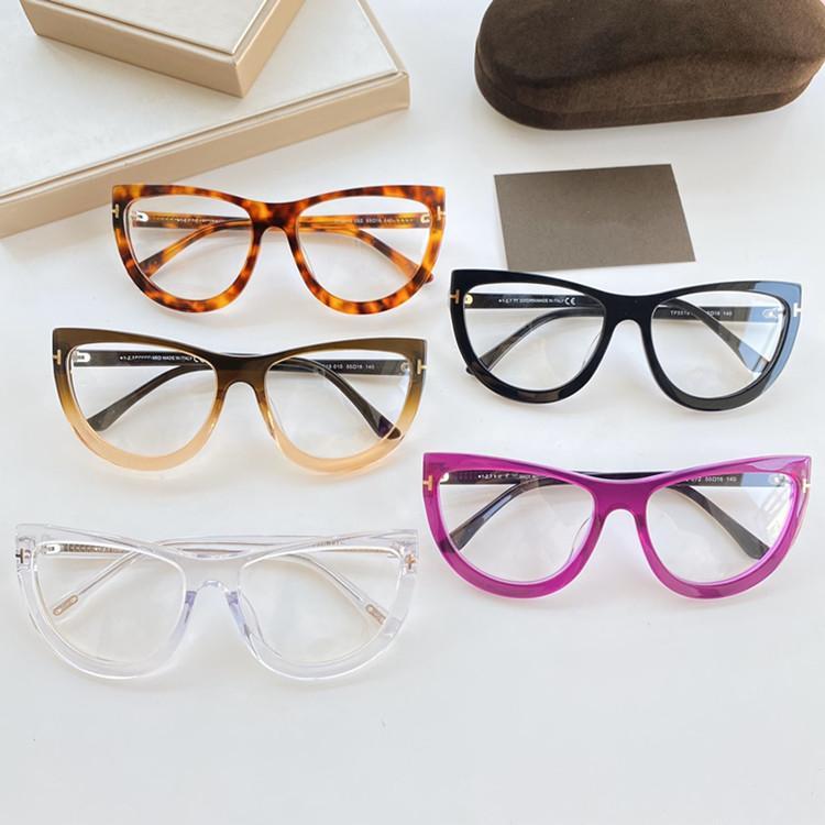 El último volumen de ventas de TF5519 mujeres atractivas Bigrim ojo de gato tableta miopía receta marco de los vidrios 55-16-140 gafas de alta calidad