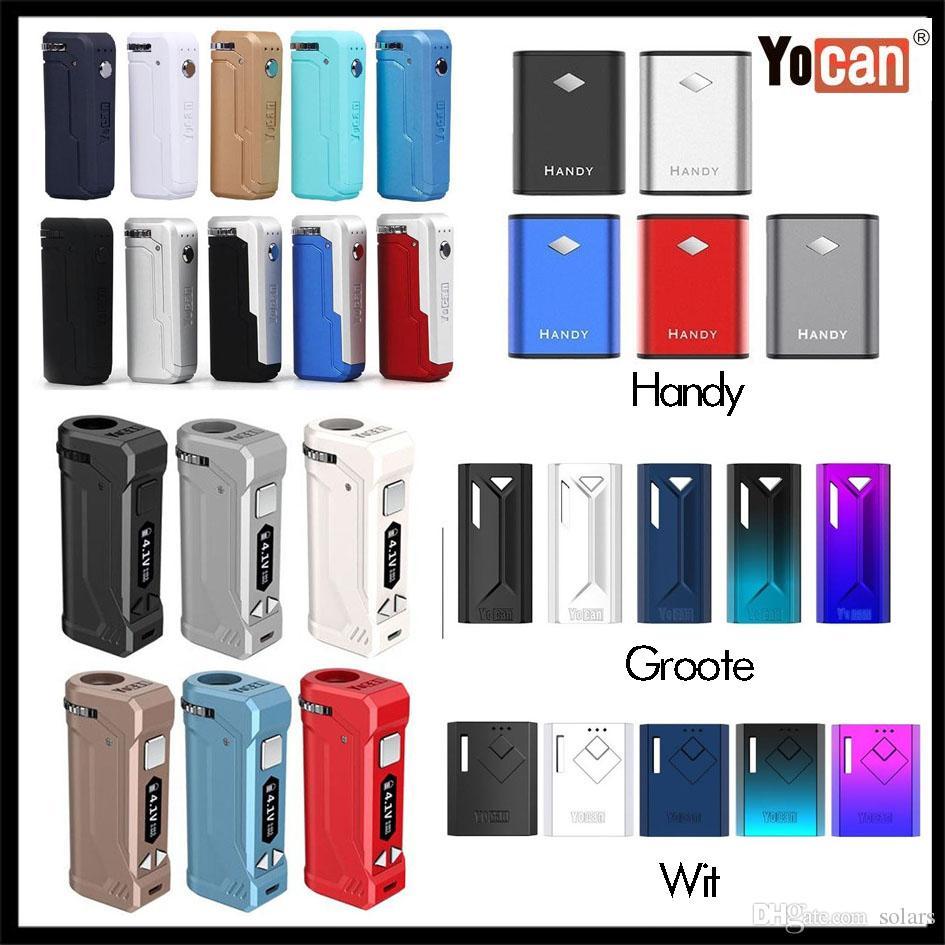 Authentique Yocan Uni Pro Numérique Yocantech Wit Groote Handy Rega Box Mod Batterie 350mAh 500mah 650mAh Uni Batterie 100% Original