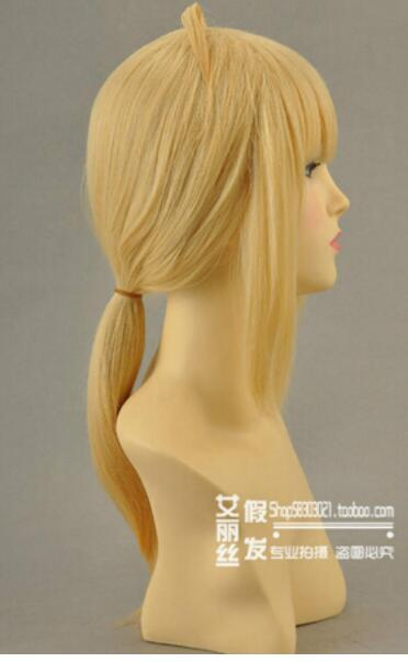 FREE SHIPPING+ ++ FATE ZERO Saber Cosplay Wig Long Blonde Party Fashion Animation Hairs