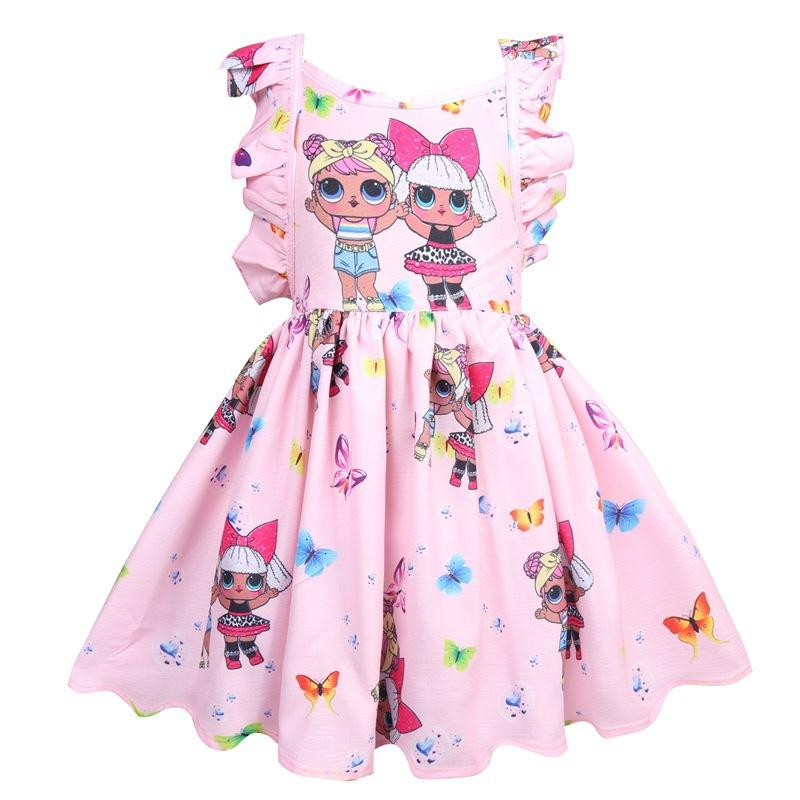 LOL بنات فساتين الطفل 3-8Y الصيف لطيف أنيق فتاة اللباس أطفال حزب ازياء عيد الميلاد ملابس الأطفال الأميرة 3colors الشحن بواسطة