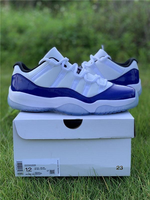 Новый Best Air Аутентичные 11 Низкий WMNS Concord Баскетбол обувь 11S Мужчины Женщины Белый Черный ретро Athletic кроссовки с коробкой AV2187-160