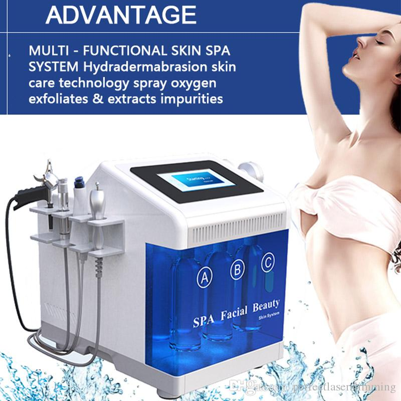 2020 Best Hydra facial Dermabrasion Machine Hydra Water Peeling Skin Care Dermabrasion Hydro Therapy Facial Acne Md Treatment Oxygeng Jet