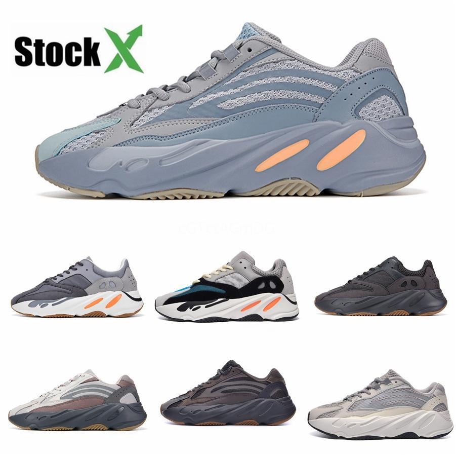 Erkekler 700S Ayakkabı Spor Tripler Moda Sneakers # DSK518 İçin Ayakkabı Koşu 2020 Üst Kalite ile Kutusu Ucuz 700 V3 Azael Kanye West Ayakkabı Erkek