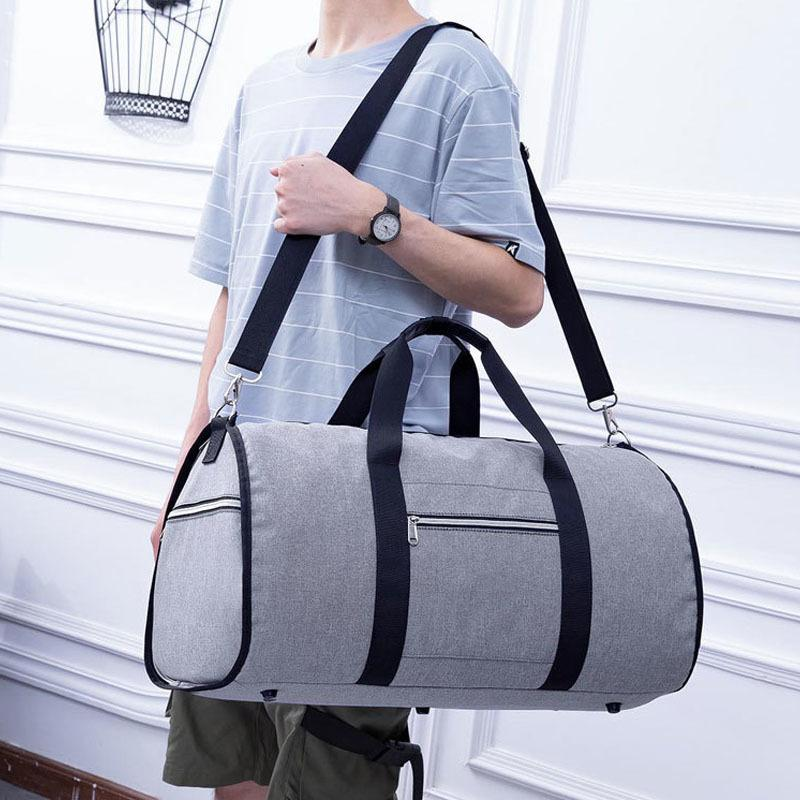 Waterproof Travel Bag Mens Garment Bags Women Travel Shoulder Bag 2 In 1 Large Luggage Duffel Totes Carry On Leisure Hand Bag TY T200613