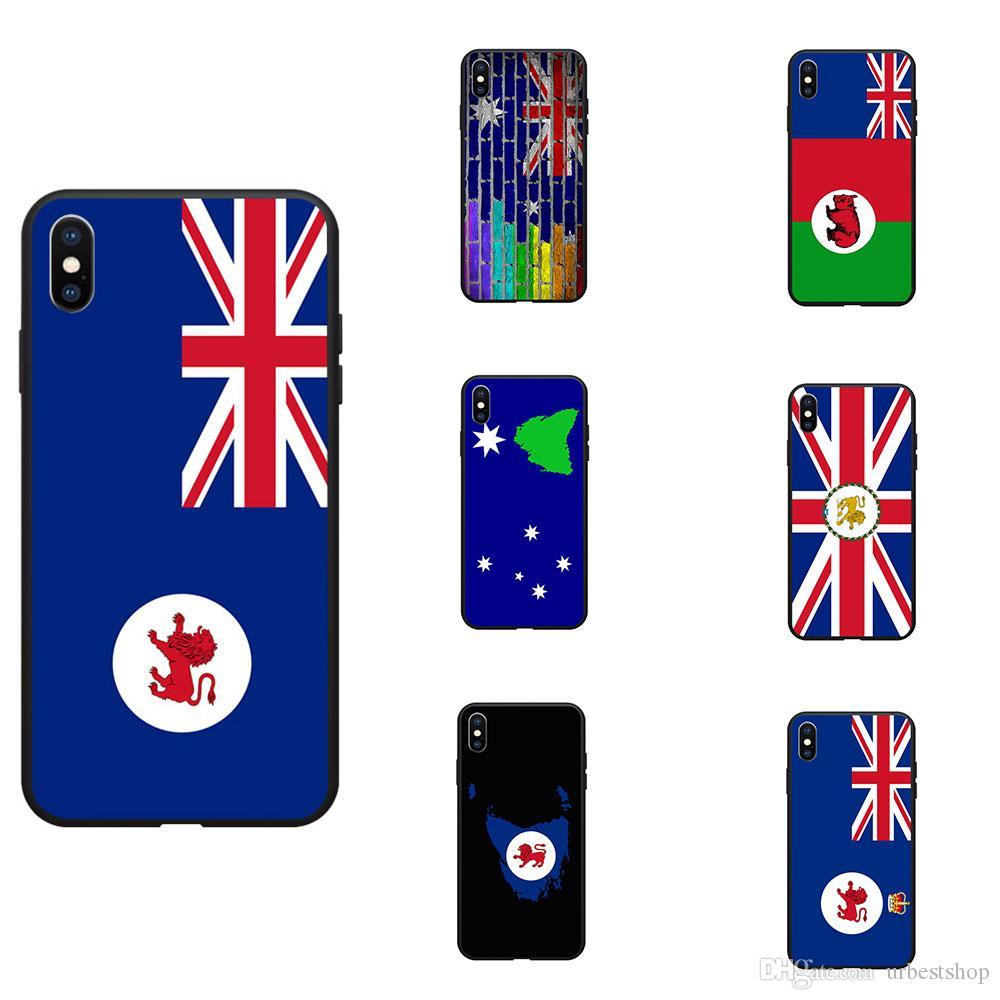 Australia Tasmania TAS State Flag Theme Soft TPU Phone Cases Cover Image Logo For iPhone 6 7 8 S XR X Plus