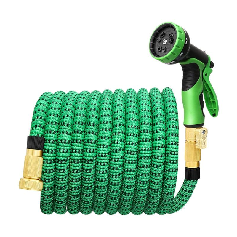 75Ft Expandable Garden Water Hose Garden Hose with 3/4 Inch Strong Solid 9 Function Nozzle Expandable Hoses