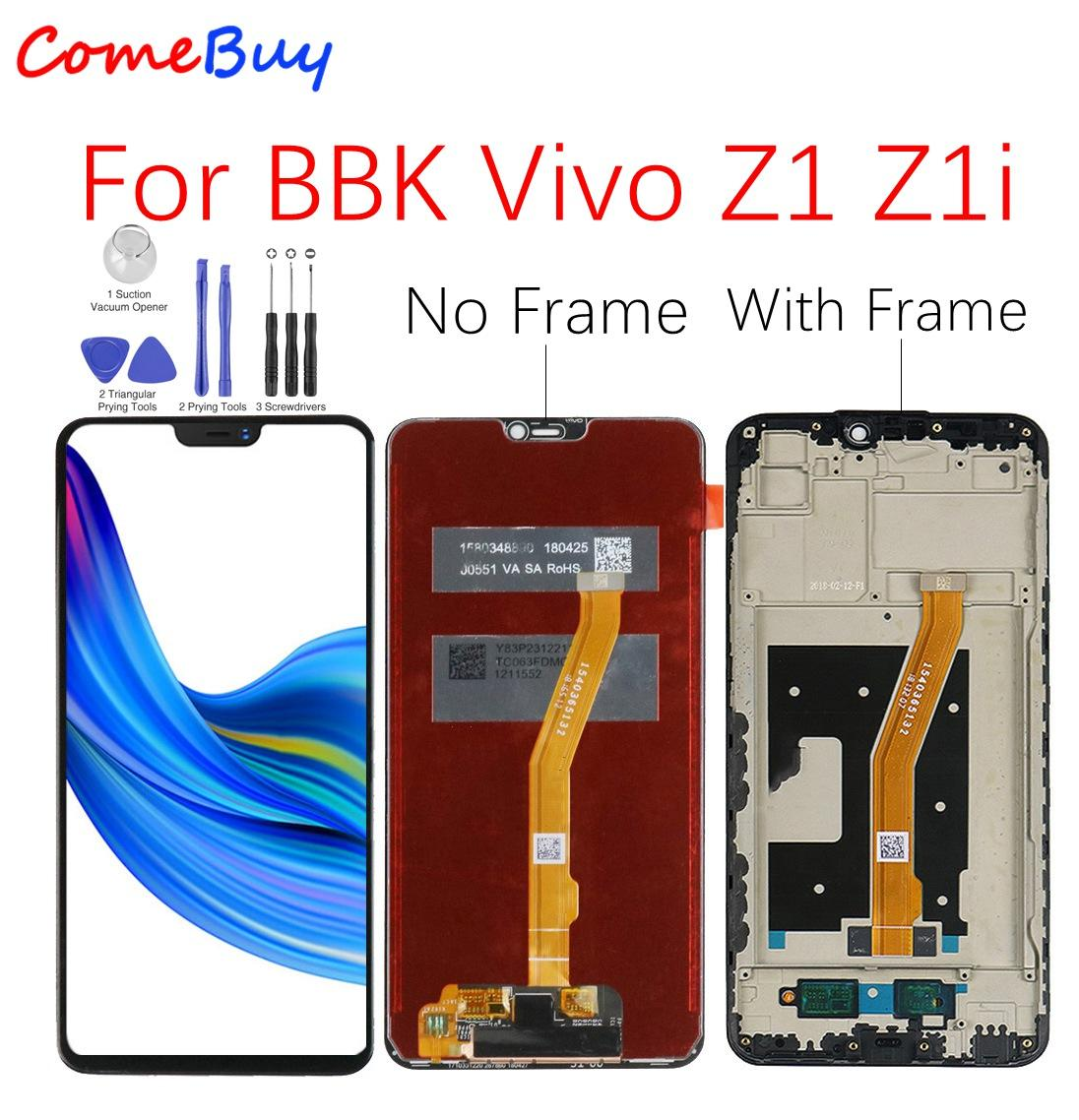 For BBK Vivo Z1 Z1i LCD Display Touch Screen Digitizer Assembly For Vivo Z1 LCD With Frame Screen Replacement Parts Black White