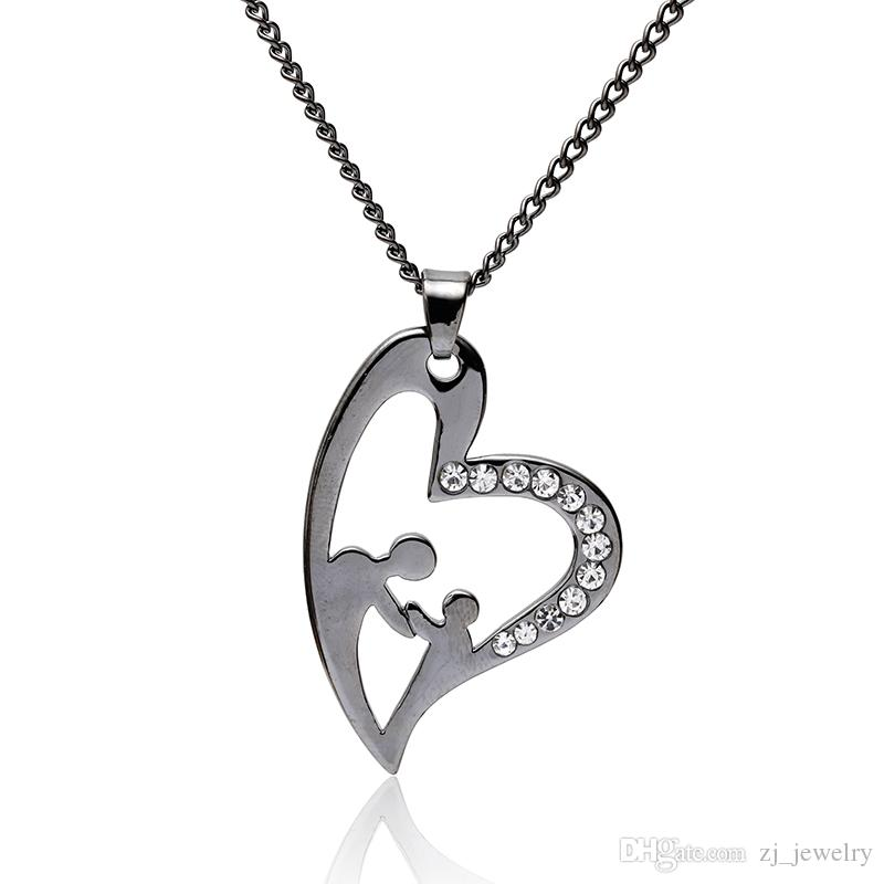 Collana con nome personalizzato Collana con nome personalizzato Collana Gioielli in lega nera Regalo per il suo regalo di San Valentino Festa della mamma Miglior regalo