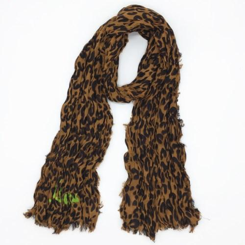 Wholesale-Autumn and winter classic print leopard pattern cotton material creasing Ms.children Scarf small size 170cm -60cm