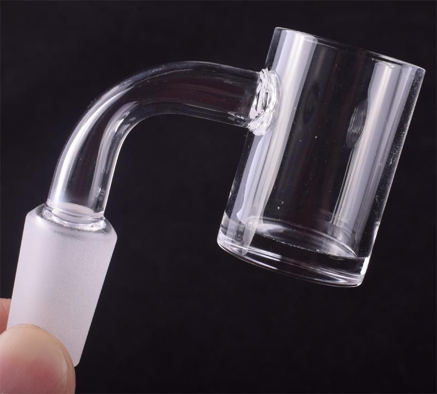 High Quality XL Flat Top Quartz Banger Nail with 5mm Thick Bottom Domeless Quartz Nail For Glass Water Pipe Bongs