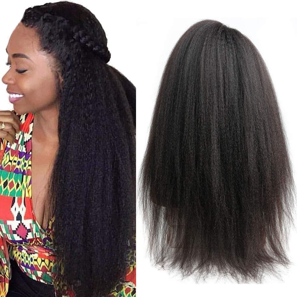 Yaki italiana 360 de encaje frontal pelucas para mujeres pre desplumados peruano recto rizado 360 del frente del cordón de Yaki 150 Densidad del pelo humano pelucas