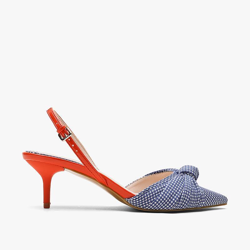 2019 neue Art-Frühlings-Sommer-Za-Serie RA Europa und Amerika Mode Sandalen Frauen-Mischfarben Buckle Spitzer-Toe Thin Stöckel