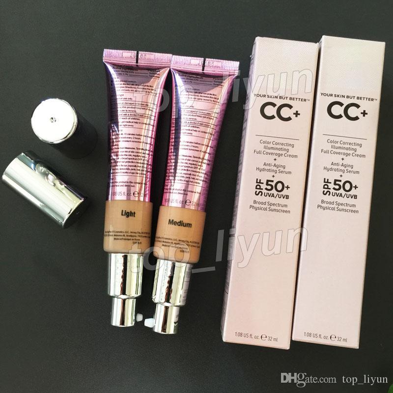 Makeup Cream Illumination la pelle, ma meglio Cosmetics CC + crema illuminazione Concealer Full Coverage faccia Fondazione 32ml Leggera Media