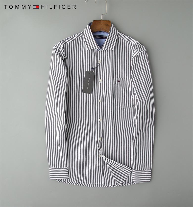 Marken-Männer Business Casual Shirt lange Hülse der Männer slim fit camisa masculina gestreift soziale männliche T-Shirts neue Art und Weise Mann Karohemd-06