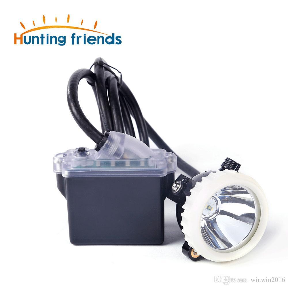 Huntinhg Amis Mining phares 1 + 2 LED Miner lampe 18650 lampe Mining batterie Antidéflagrant de phare étanche Cap lampe Miner