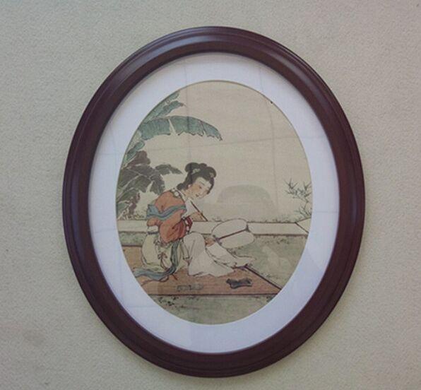 20inch l'Europe Qualité ovale Cadre photo vintage de photographie de mariage studio Art Décoration murale suspendus Cadres peinture