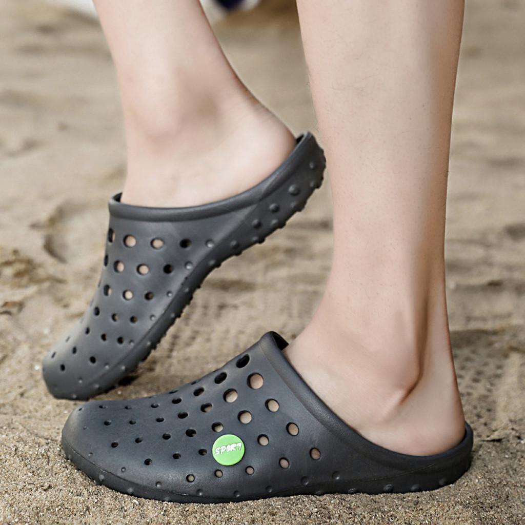 SAGACE Moda Erkekler Flats Plaj Deniz Kaymaz Nefes Delik Ayakkabı Terlik Sandalias Hombre Yaz Casual Shoes