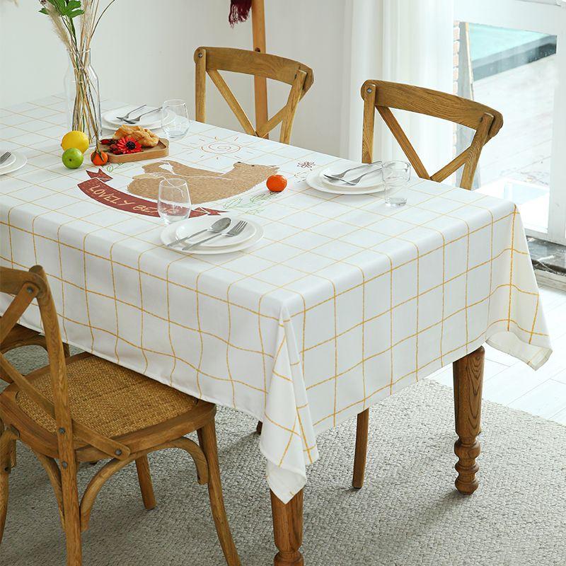 Designer Nordic velvet table cloth ins cloth art tea table mat light luxury rectangular table cloth waterproof and anti-scalding Decoration