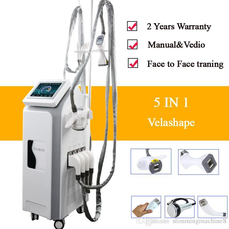 Vacuum RF skin tightening velashape weight loss machine multi-function slimming beauty machine body shape for clinic use