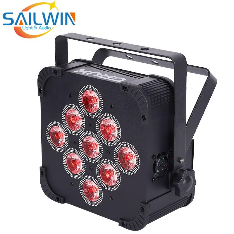 Sailwin 9x18w 6in1 RGBAW UV con batería UV Operado inalámbrico DMX LED LED DISCO LED LED Pro Projector LED Lluvia