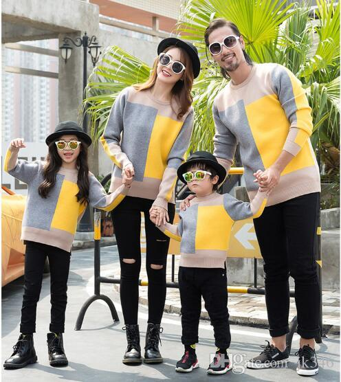 2019 New arrival Family Matching Outfits woollen sweater Comfortable